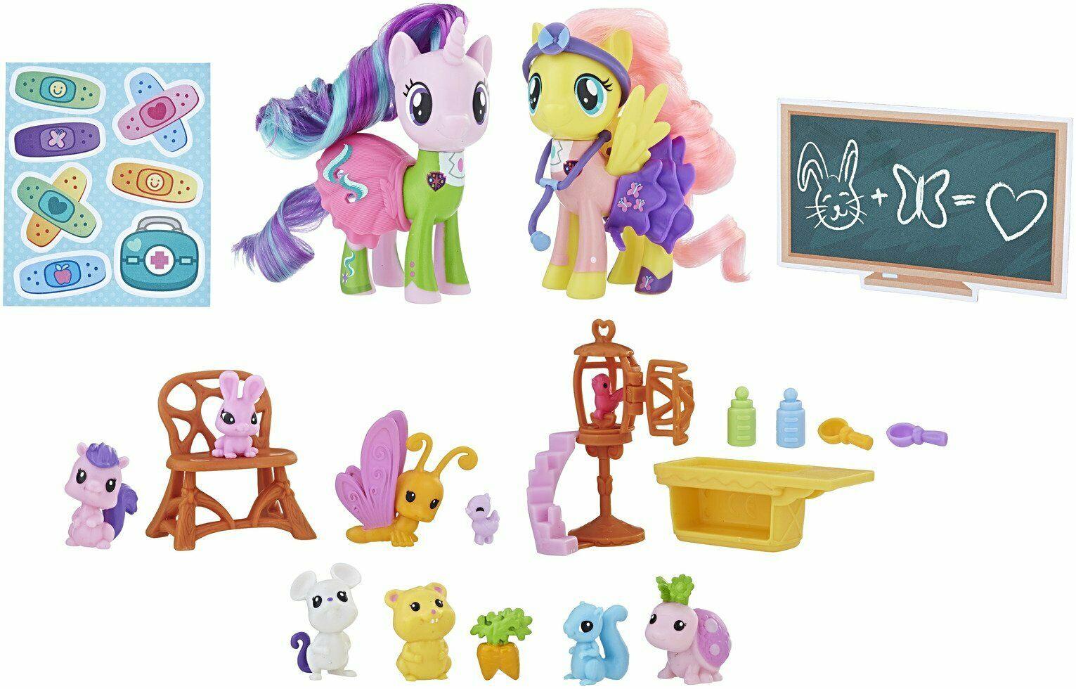 My Little Pony Fluttershy & Starlight Glimmer Pet Care Class £6.99 at Argos eBay