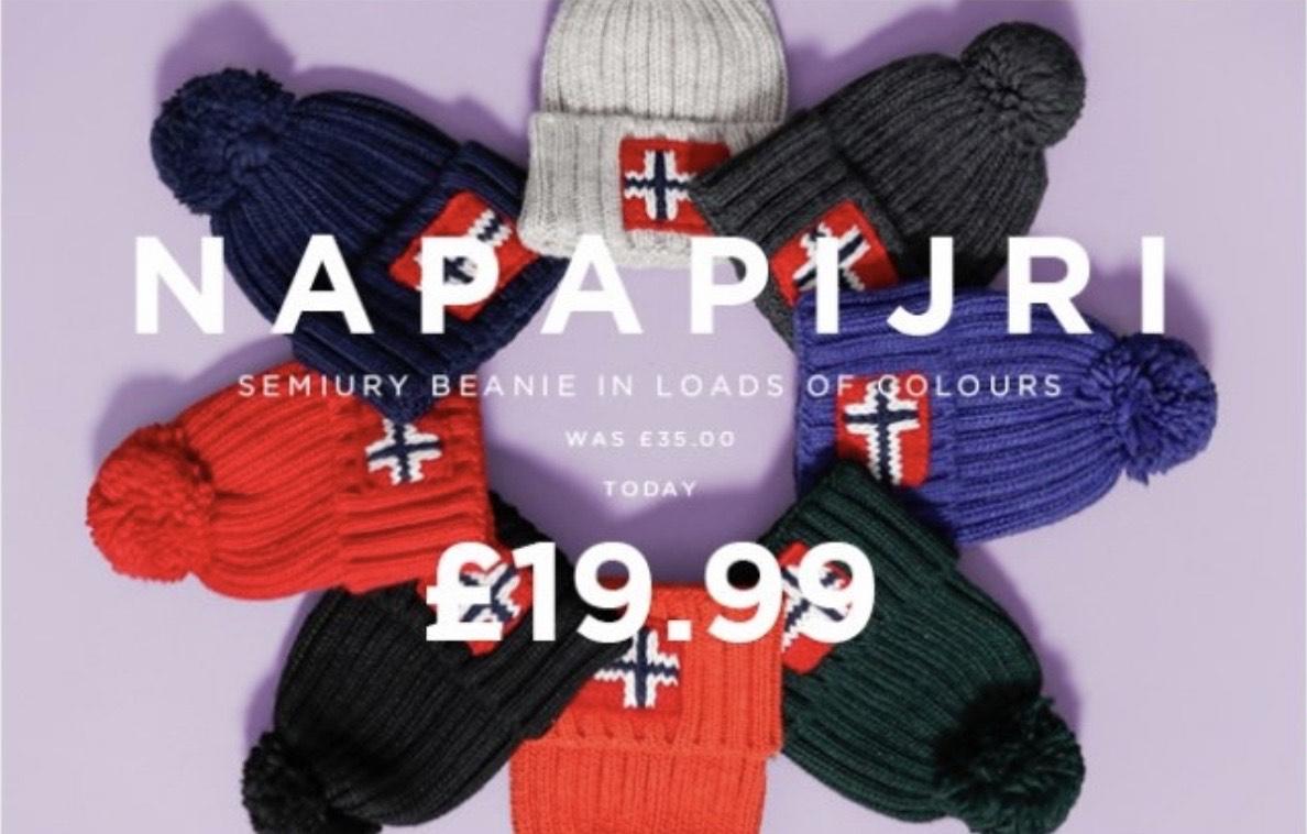Napapijri beanie hat - Various colours £20 + £2.99 delivery @ Terraces Menswear