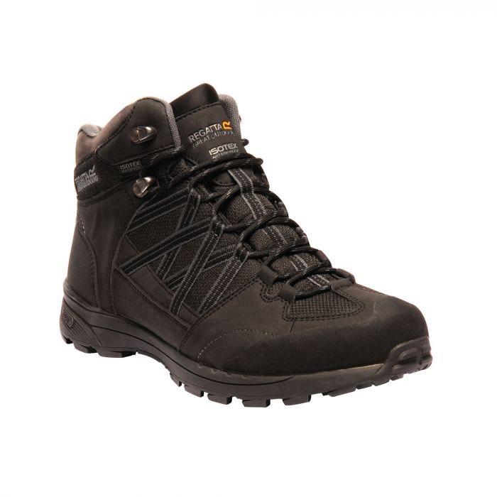 Regatta Men's Samaris II Mid Walking Boots - Black Granite £29.99 with Extra 15% off with code - £25.49 @ Hawkshead