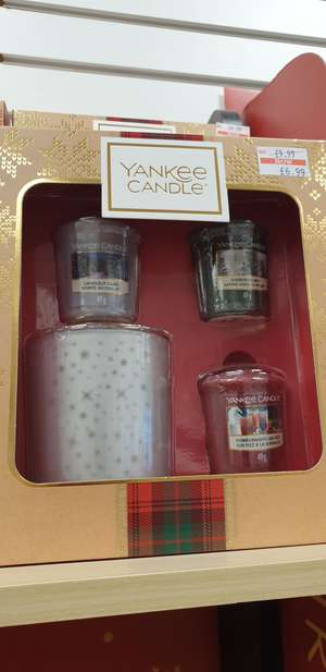 Yankee Candle Alpine Christmas Three Votives And Holder Gift Set £6.99 instore @ Clintons Grimsby