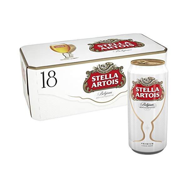 Stella Artois 18 x 440ml cans for £9.99 @ Aldi