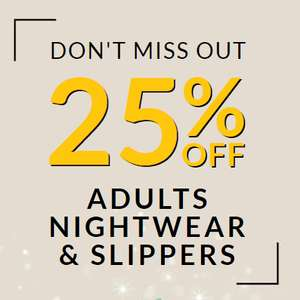 25% off adult nightwear instore and online at Asda George