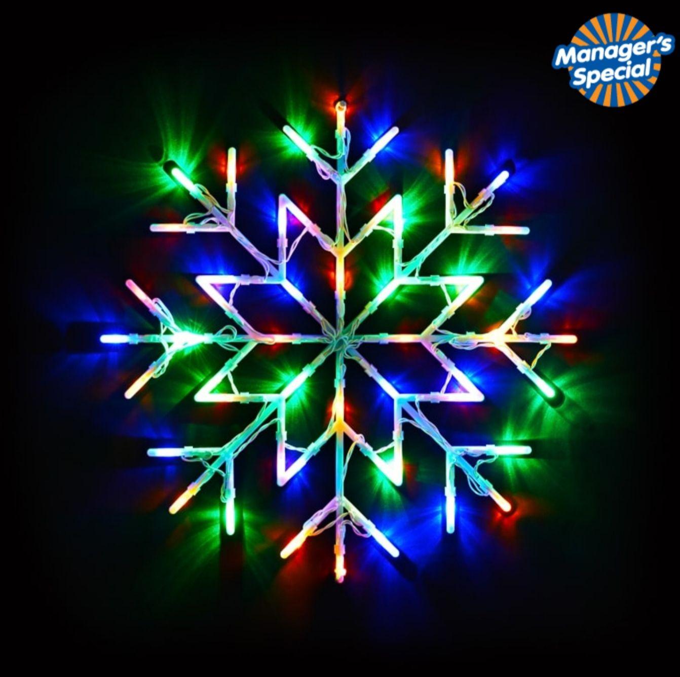 50 LED Snowflake Window Light - various colours £3.99 @ B&M (Blackburn)