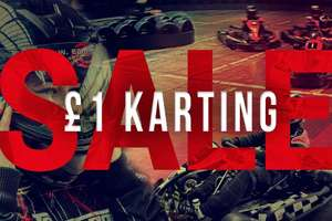 TeamSport Indoor Go Karting £1 for another adult or child when you pay for a full priced karting session