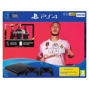 PS4 500GB FIFA 20 Bundle with Second Dualshock 4 Controller - £214.99 @ Smyths