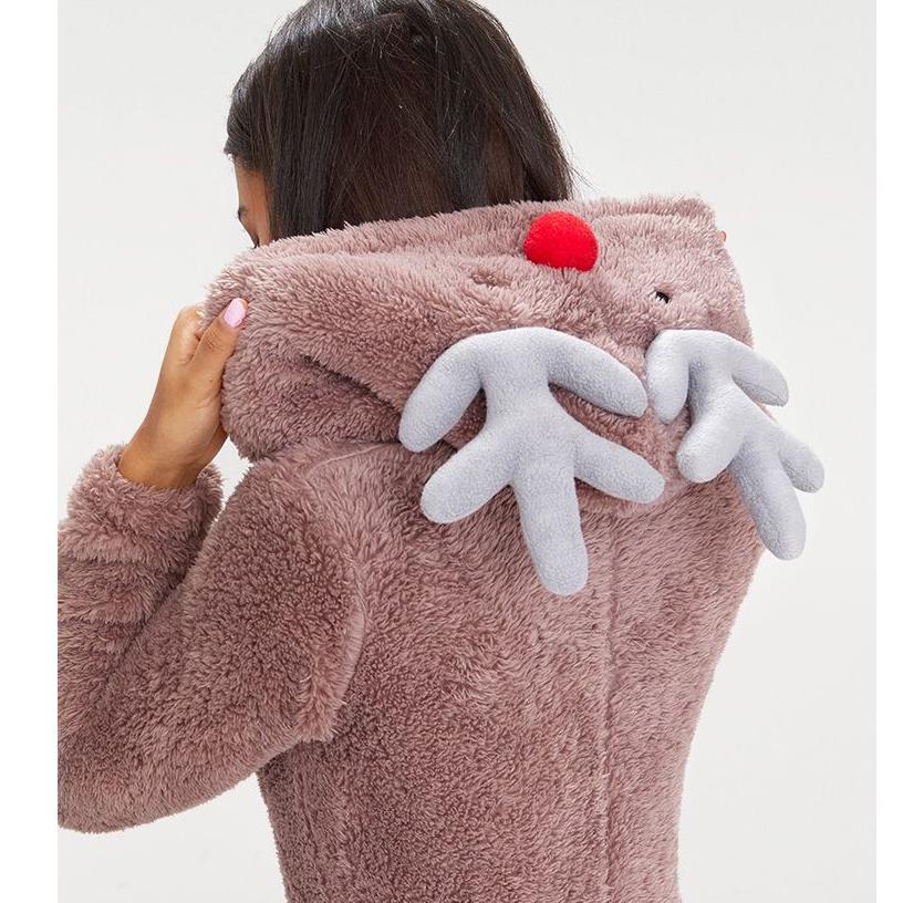 Brown Reindeer Onsie £20 @ Pretty Little Thing