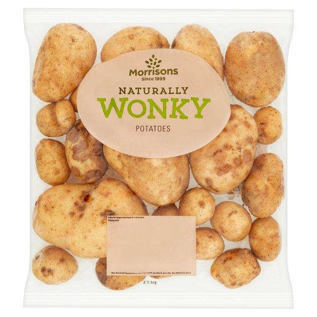 Morrisons Wonky Potatoes 2.5kg / Morrisons Wonky Carrots 1kg £0.30 @ Morrisons