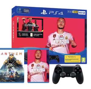 Sony PS4 Slim 500GB with Extra Controller + FIFA 20 + Anthem £194.96 from Amazon UK