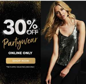 30% off Party Wear at Peacocks Online Only - selected lines only