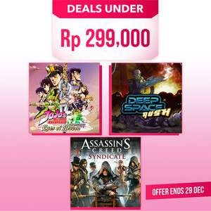 Deals at PlayStation PSN Indonesia - Assassin's Creed Black Flag £3.70 AC Syndicate £4.76 AC Freedom Cry £1.38 Dirt Rally PSVR £7.44 + MORE