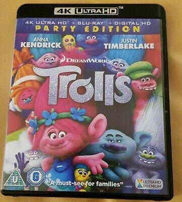 Trolls 4K UHD + Blu-ray 2016 brand new and sealed £4.89 @ cardboardstory4 ebay