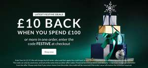 Get £10 Back when you spend £100 or more in one order @ Very
