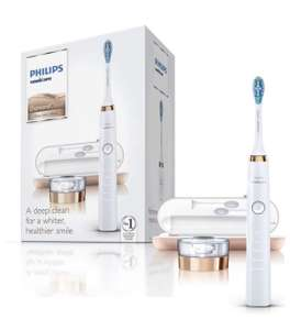 Philips Sonicare DiamondClean Electric Toothbrush, 2019 Edition, Rose Gold (UK 2-pin Bathroom Plug with USB Travel Charger) £87.80 @ Amazon