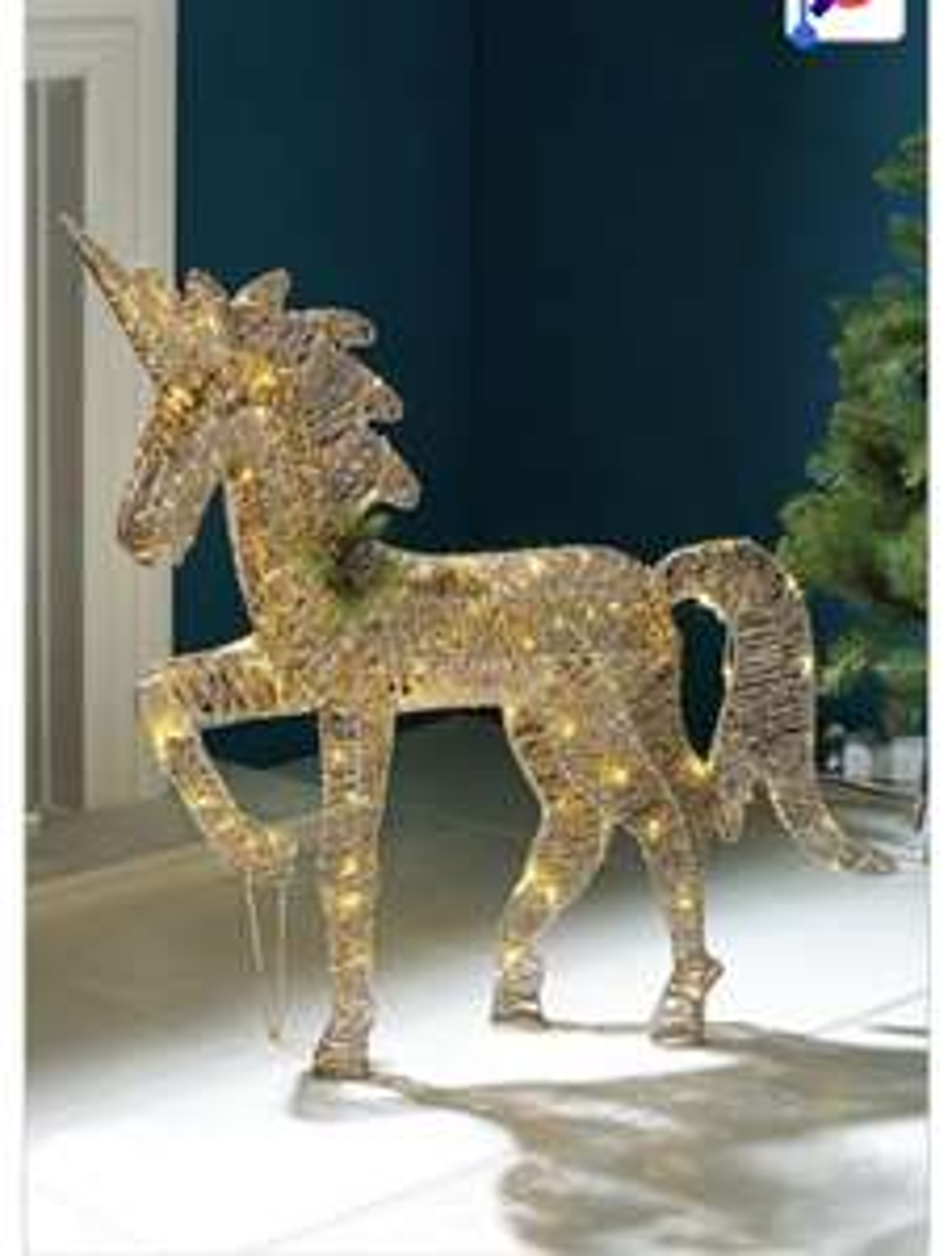 Gold Glitter Unicorn RRP £44.99 - £19.98 Delivered @ Studio