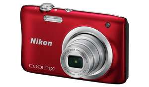 Nikon Coolpix A100 20MP 5x Zoom Compact Camera (Red/Silver/Black) £86.99 @ Argos (Free Click & Collect)