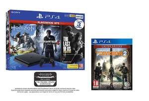 PS4 500GB with 3 PS Hits Game Bundle + The Division 2 - £214.98 Delivered @ Amazon