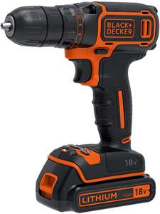 BLACK+DECKER 18 V Cordless Drill Driver with 1.5Ah Lithium Ion Battery - £36.99 delivered @ Amazon