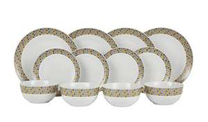 Argos Home 12 Piece Geo Triangles Dinner Set £12.50