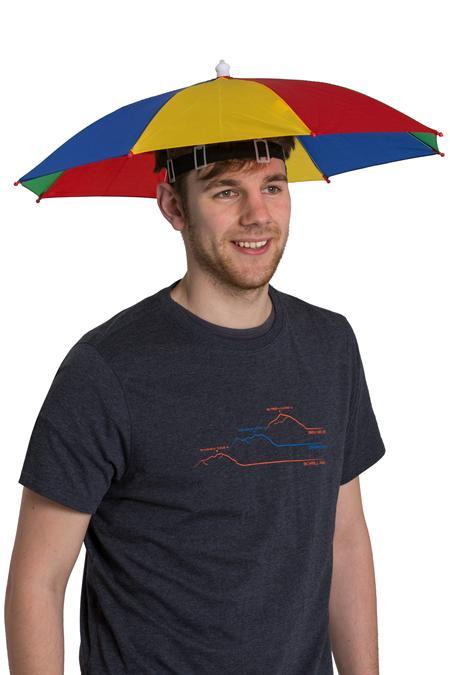Umbrella Rainbow Hat - Red £3.19 Delivered - Secret Santa - Mountain Warehouse