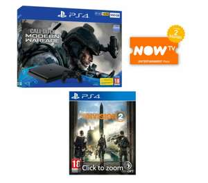 PS4 500GB Call of Duty: Modern Warfare (2019) Bundle + The Division 2 + 2 Months Now TV - £199 Delivered @ Game