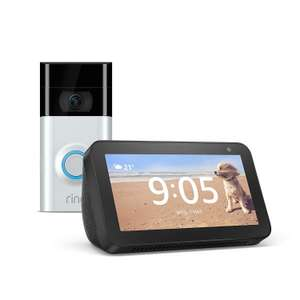 Ring doorbell 2 / Ring Door View Cam + Echo Show 5 (Black or White) £129 @ Argos (free click and collect)