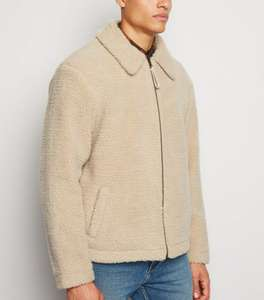 Mens Borg Revere Collar Jacket in Stone or Black £15.11 Click and Collect or £17.11 Delivered (With Code) @ New Look