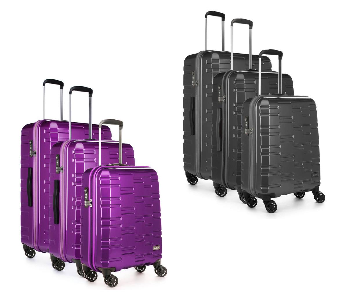 Antler Prism NX 3 Piece Hardside Suitcase Set, Purple or Charcoal for £99.89 delivered @ Costco