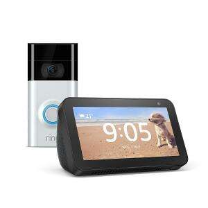 Ring Doorbell 2 / Ring Door View Cam + Echo Show 5 Bundle (Black or White) £129 Delivered @ AO