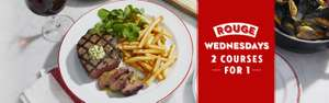 Cafe Rouge 241 on all food after 5pm on Wednesdays