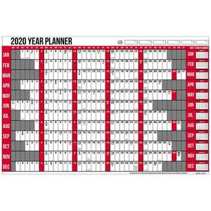 2020 laminated year planner with dry wipe marker £1 @ Poundstretcher derby, southgate retail park