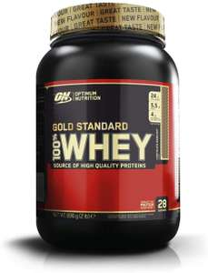 Optimum Nutrition Gold Standard Whey Protein, Chocolate Hazelnut 900 g £12.99 via Subscribe and save @ Amazon (+£4.49 Non-prime)