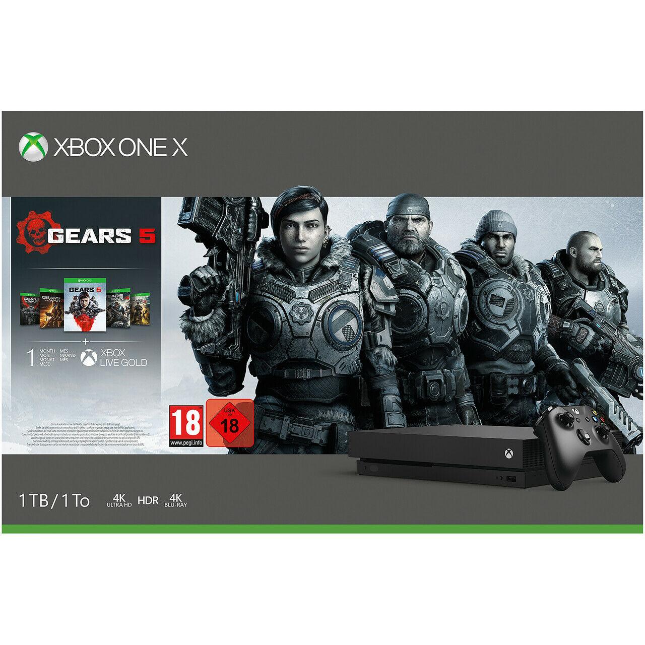 Microsoft Xbox One X - 1TB with Gears 1 - 5 Bundle - £275.49 @ Argos / eBay (Free Click & Collect)