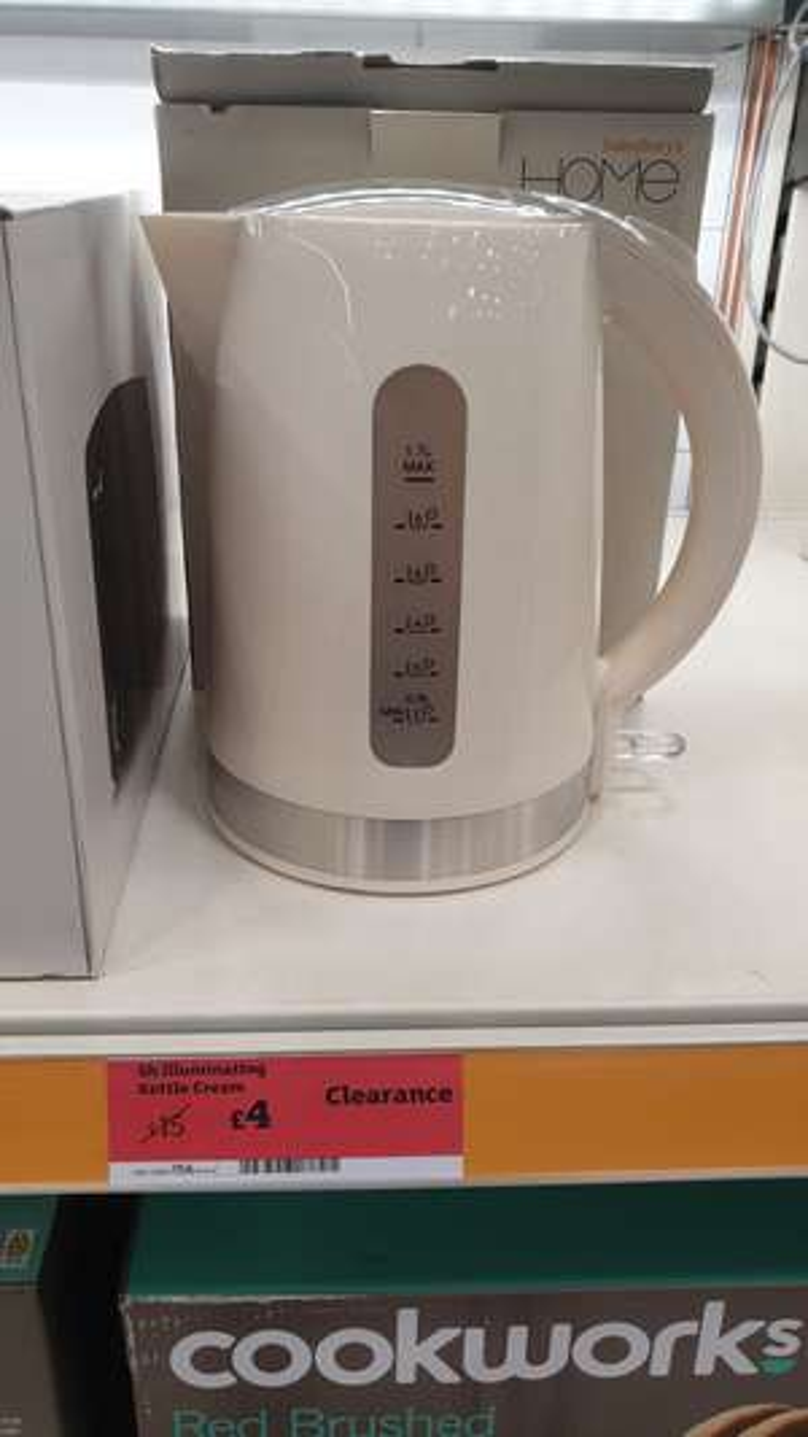 Sainsbury's Home illuminating kettle £4 (Carlisle)