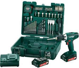 METABO BS18Li Set 18v Drill Driver and Mobile Workshop 3 Years Warranty 2 x 1.5Ah Battery + 65pc Bit Set Carry Case £71.99 @ Tool Store UK