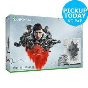 Microsoft Xbox One X 1TB Console & Gears 5 Limited Edition Bundle for £275.49 With Code Free C&C @ Argos/Ebay
