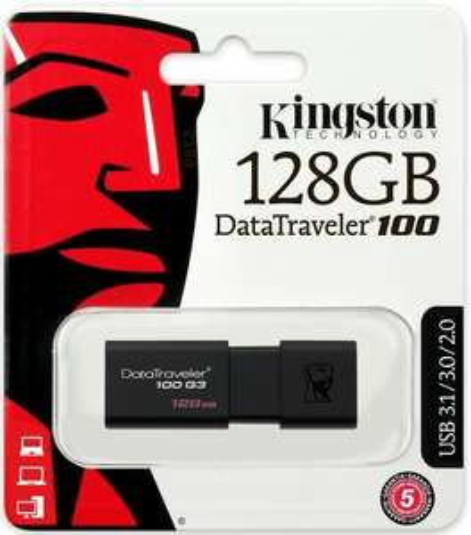 New Kingston 128GB DataTraveler 100 G3 USB 3.0 Flash Drive Memory Stick 100MB/s - £11.95 delivered @ MyMemory eBay