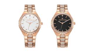 One or Two Timothy Stone Gala Women's Watches £14.99 / £24.98 for 2 with Crystals from Swarovski With Free Delivery @ Groupon