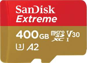 SanDisk Extreme 400 GB microSDXC Memory Card + SD Adapter with A2 App Performance £69.99 at Amazon