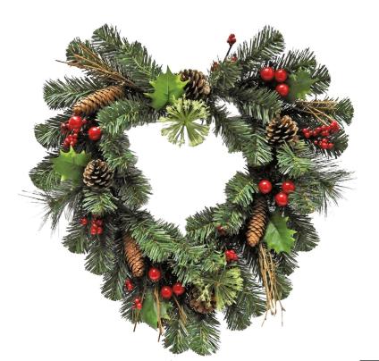 Green heart wreath £5 @ Homebase free C&C