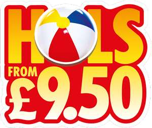 Sun Holidays (From: £9.50 pp x 4 + £2.80 = £40.5 + Service Charges + entertainment charges, if applicable)