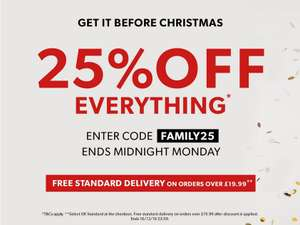 25% off at NEW LOOK code working on sale items.