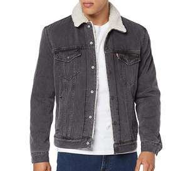 Levi's Men's Type 3 Denim Jacket, Grey (Tarmac Sherpa Trucker 0121) - Various sizes £57.50 @ Amazon