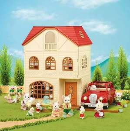 Sylvanian Families - Cedar Terrace 3 Storey House with extras £26.99 @ Very
