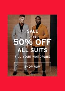 Topman Upto 50% of suits, buy one get one half price jeans (Free click and Collect)
