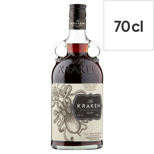 The Kraken Black Spiced Rum 70cl £20 @ Tesco