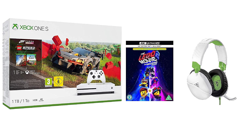 Xbox One S 1TB Console - Forza Horizon 4 (with Lego DLC) + The LEGO Movie 2 4K + Turtle Beach Recon 70X Gaming Headset - £189.99 @ Amazon