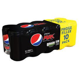 Pepsi Max 10x330ml fridge pack 3 for £6 at Farmfoods