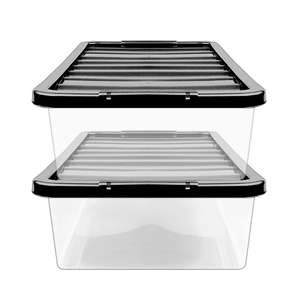 ASDA Clear 32L Underbed Storage Boxes - Pack of 2 - £6