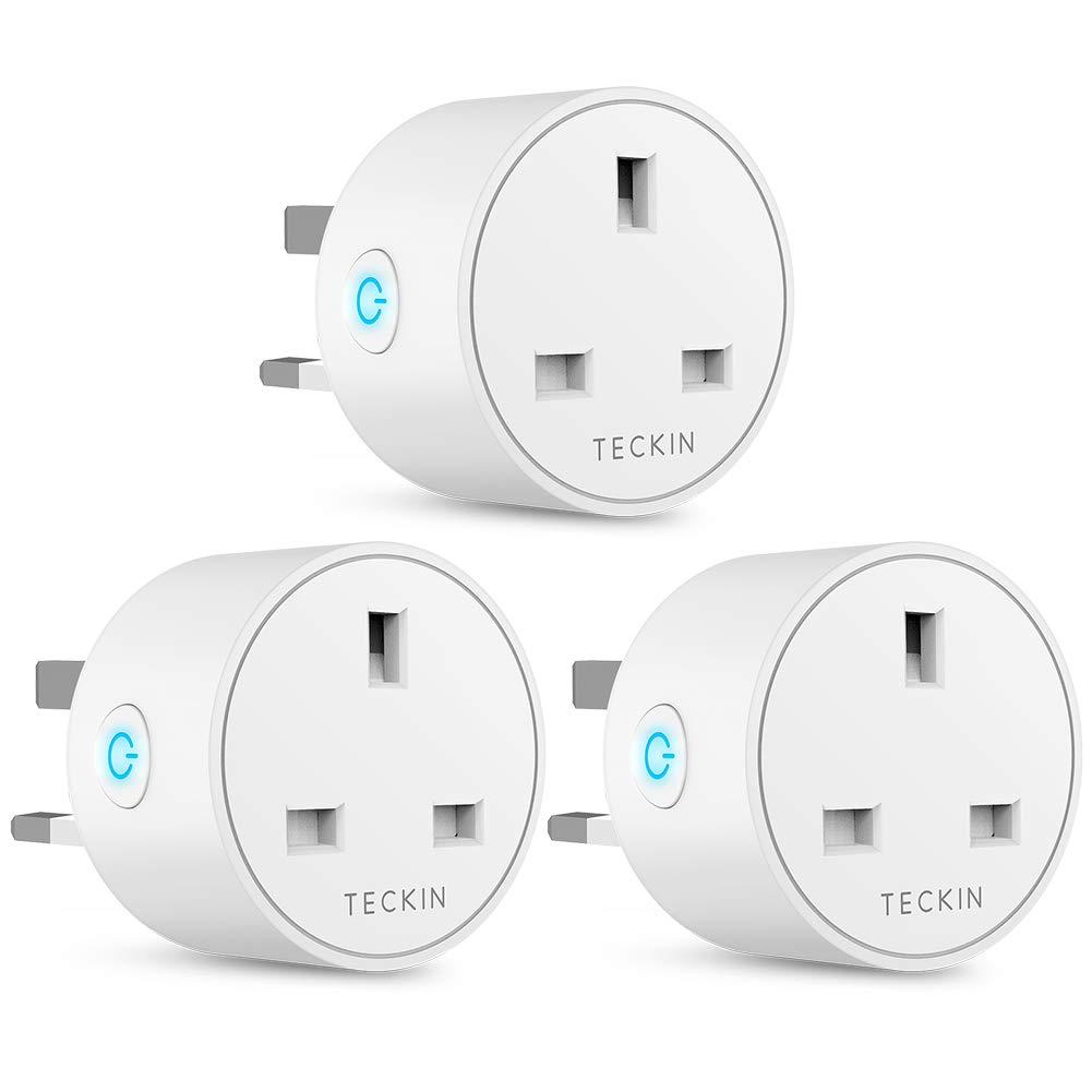 Smart Plug WiFi Outlet TECKIN Mini Plug Wireless Smart Socket Remote Control Timer Plug Switch, (3 Pack) £24.86 old by BABAN EU FBA.