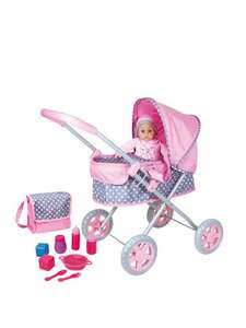 Lissi Dolls Pram with Doll, Bag and Accessory Set £17.99 + £3.99 Delivery @ VERY